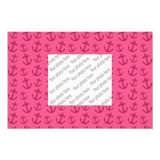 Pink anchor pattern photo