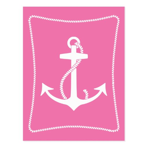 Pink Anchor Post Card