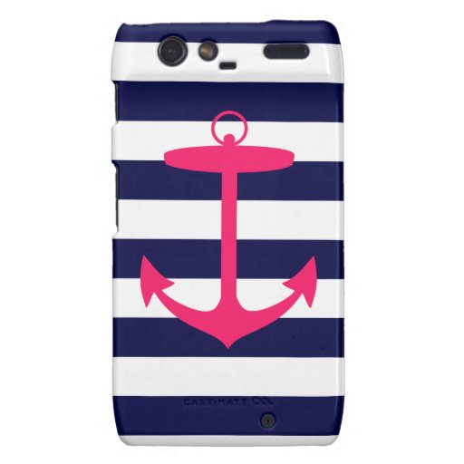 Pink Anchor Silhouette Droid RAZR Covers