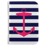 Pink Anchor Silhouette Cases For Kindle
