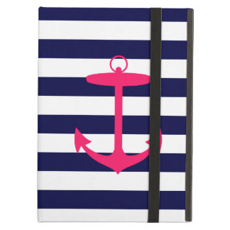 Pink Anchor Silhouette iPad Air Cover