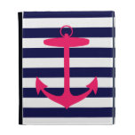 Pink Anchor Silhouette iPad Folio Case