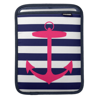 Pink Anchor Silhouette Sleeve For iPads