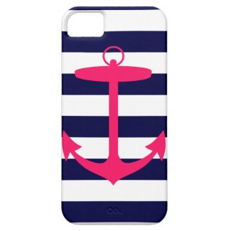 Pink Anchor Silhouette iPhone 5 Covers