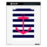 Pink Anchor Silhouette NOOK Decals