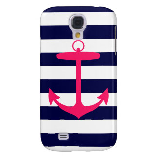 Pink Anchor Silhouette Samsung Galaxy S4 Case