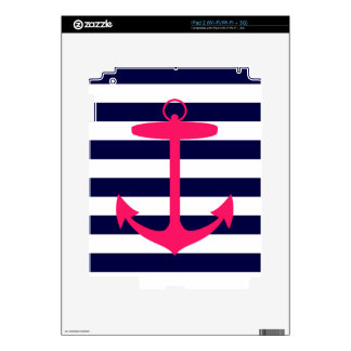 Pink Anchor Silhouette Skin For The iPad 2