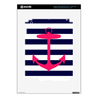 Pink Anchor Silhouette iPad 3 Decals