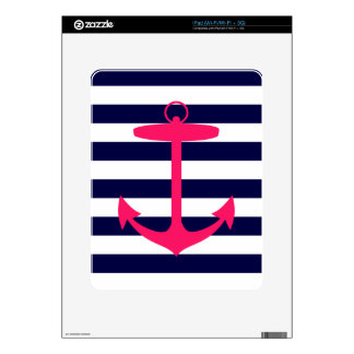 Pink Anchor Silhouette Skin For iPad
