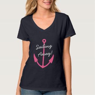 Pink anchor t shirt for women | sailing away!