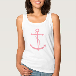 Pink Anchor Basic Tank Top
