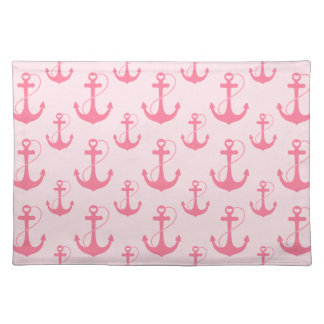 Pink Anchors Placemat