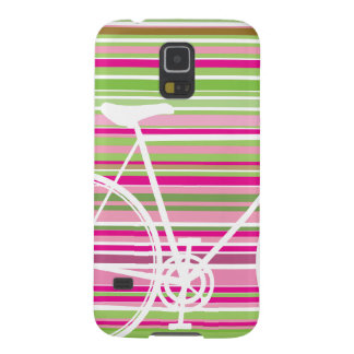 Pink and abstract Bicycle samsung galaxy case