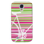 Pink and abstract Bicycle samsung galaxy Samsung Galaxy S4 Case