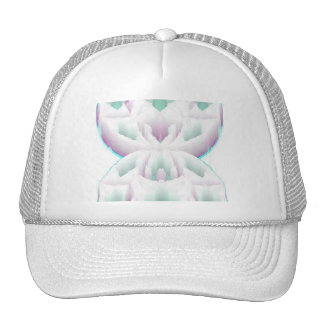 pink and aqua clouds trucker hat