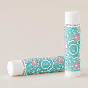 Professional Business Pink and aqua funky floral lip balm