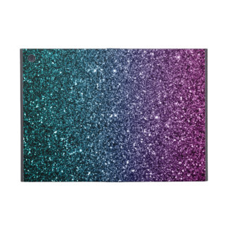 Pink and Aqua Ombre Faux Glitter Cases For iPad Mini