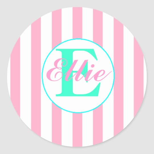 Pink and Aqua Sticker