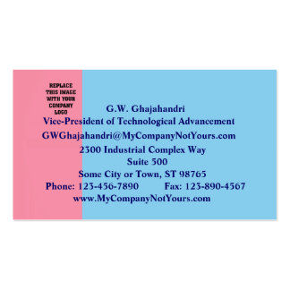 Pink and Baby Blue Business Card