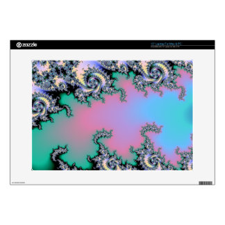 Pink and Baby Blue Pastel Fractal Laptop Decals