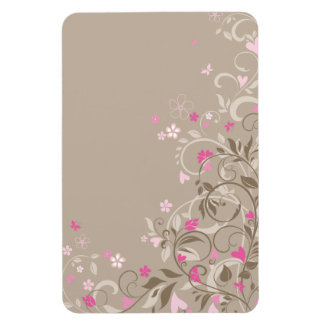 Pink and Beige Floral Romance Magnet 2