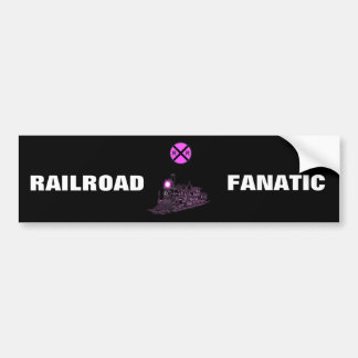 Pink And Berry Railroad Scenery Bumper Sticker
