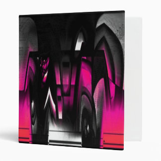 Pink and Black Abstract Binder
