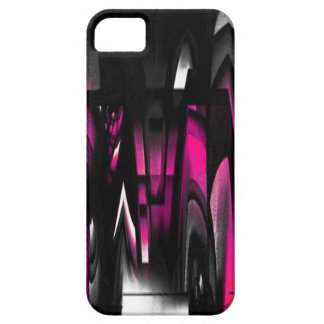 Pink and Black Abstract iPhone SE/5/5s Case