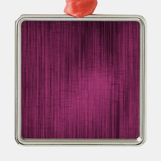 Pink and Black Abstract Lines Metal Ornament
