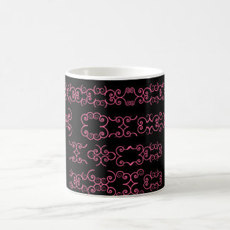 PINK AND BLACK ABSTRACT mug