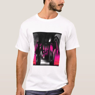 Pink and Black Abstract T-Shirt