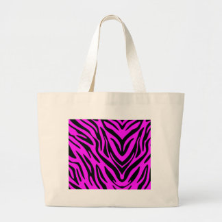 Pink and Black Abstract Zebra Tote Bag