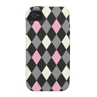 Pink and Black Argyle Case-Mate iPhone 4 Cases