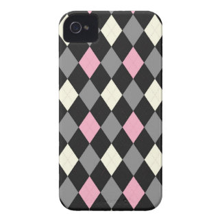 Pink and Black Argyle iPhone 4 Case