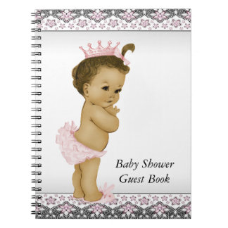 Pink and Black Baby Shower Guest Book Note Books