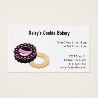 Pink and Black Bakery Business Card