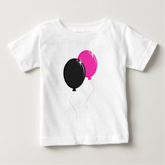 Pink and Black Balloons Baby T-Shirt