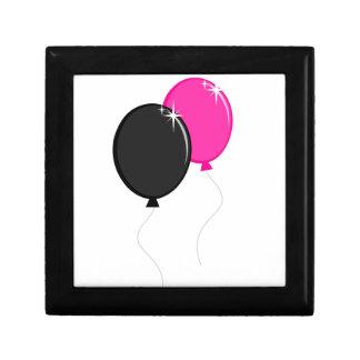 Pink and Black Balloons Keepsake Boxes
