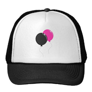 Pink and Black Balloons Trucker Hat
