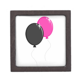 Pink and Black Balloons Premium Jewelry Boxes