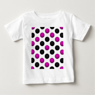 Pink and Black Basketball Pattern Baby T-Shirt