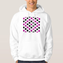Pink and Black Basketball Pattern Hoodie