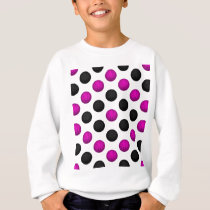 Pink and Black Basketball Pattern Sweatshirt
