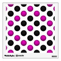 Pink and Black Basketball Pattern Wall Sticker