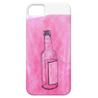 Pink and Black Beer Bottle Drawing/Painting iPhone SE/5/5s Case