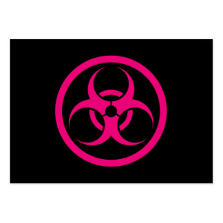 Pink and Black Bio Hazard Circle Large Business Cards (Pack Of 100)