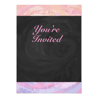 Pink and Black Birthday Party Invitation