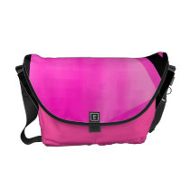 Pink and Black Blast Messenger Bag