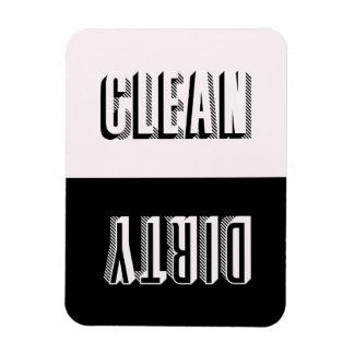 Pink and Black Block Modern Typography Dishwasher Magnet