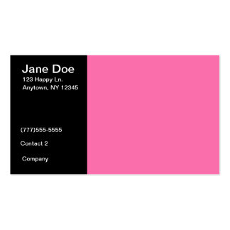 Pink and Black Business Card Template